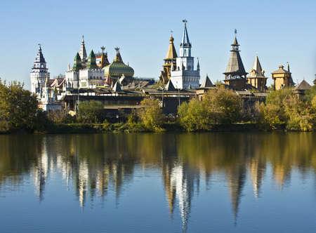 izmaylovskiy: Moscow, vernisage Izmaylovo (Izmaylovskiy) - exhibition and fair of crafts, wooden architecture, famous touristic landmark.