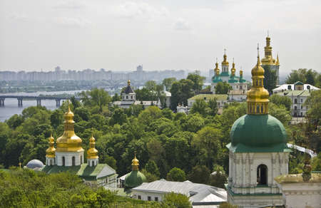Kievo-Pecherskaya lavra monastery - main historical and architecture landmark of Kiev, capital of Ukraine.