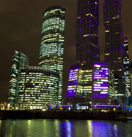 Moscow, Russia - October 10, 2010: business centre Moscow-city - one of grandiose modern construction projects of the world in 21 century, built from 2004 till 2011, October, 2011, Moscow. Stock Photo - 13266590