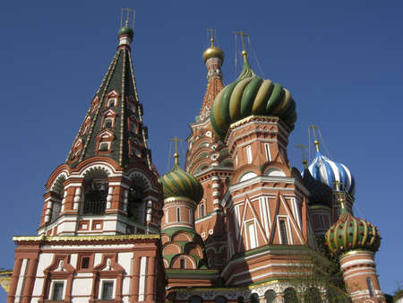 St. Basils (Pokrovskiy ) cathedral in Moscow, Red square. photo