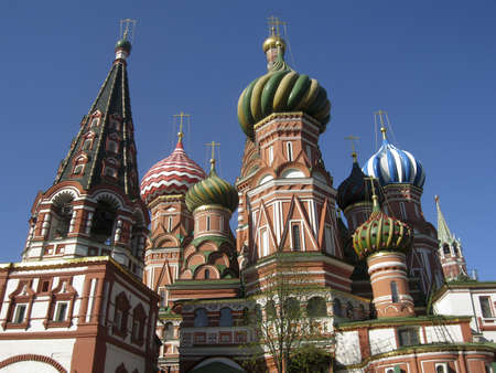St. Basils (Pokrovskiy) cathedral in Moscow, Red square. photo