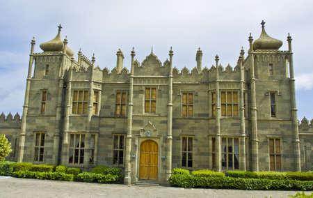 alupka: Alupka, Crimea, Ukraine - May 25, 2012: Voronctovskiy palace of earl Voronctov, XIX century. Editorial
