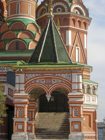iquest: St. Basils (Pokrovskiy) cathedral in Moscow, detail of entrance.