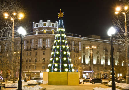 Moscow, Russia - December 19, 2011: Christmas tree on square  photo