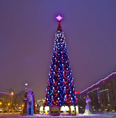 Moscow, Russia - December 23, 2011: Christmas tree on memorial