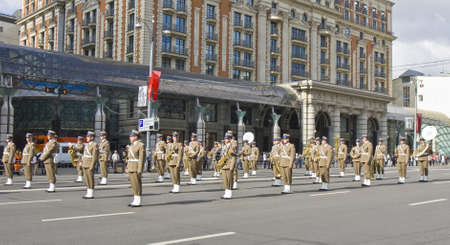 Moscow, Russia - September 01, 2012: international festival of military orchestras  Stock Photo - 15078749