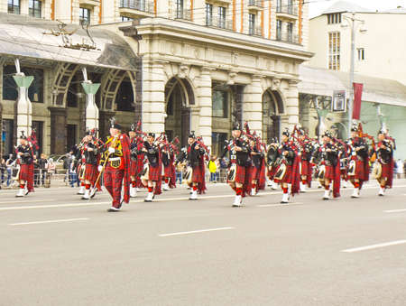 Moscow, Russia - September 01, 2012: international festival of military orchestras  Stock Photo - 15132302
