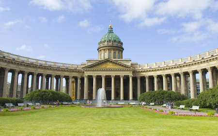 St. Petersburg, Russia - July 03, 2012: Kazanskiy cathedral (cathedral of Kazanskaya icon of St. Mary) on Nevskiy prospect street.