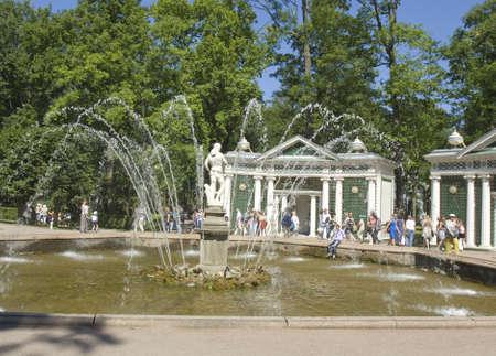 peterhof: Peterhof, Russia - July 06, 2012: fountain Eva in Peterhof in surroundings of St. Petersburg
