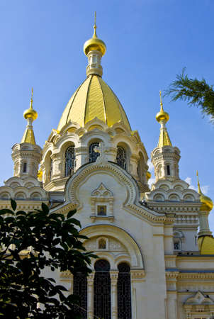 Sevastopol, Crimea, Ukraine - July 20, 2010: Intercession orthodox cathedral. Sevastopol is a popular resort in region Crimea on Black sea coast. Stock Photo - 16424890