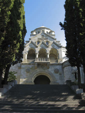 xx century: Yalta, Crimea, Ukraine - September 07, 2009: Armenian orthodox church of St. Ripsime, beginning of XX century. Stock Photo