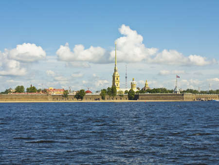 St. Petersburg, Russia - St. Peter and Paul on bank of river Neva. Stock Photo - 17567093