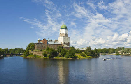Vyborg, Russia - July 04, 2012: ancient town castle on island. Stock Photo - 18471302