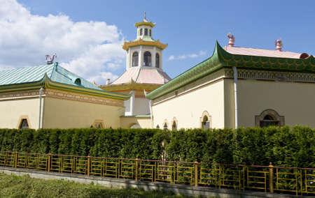 selo: Tsarskoye selo, Russia - July 07, 2012: Chinese palace in residence of kings in Tsarskoye selo in town Pushkin in surroundings of St. Petersburg in Russia. Editorial