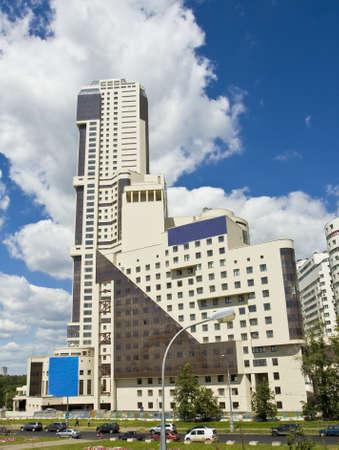 prospect: Moscou, Russie - Juin 19, 2012: gratte-ciel sur Zhukov perspective de la rue.