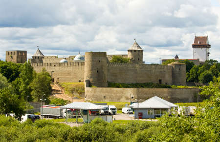 middle ages: Ivan-Gorod, Russia - July 21, 2013: middle ages castle Ivan-gorod in Russia. Editorial