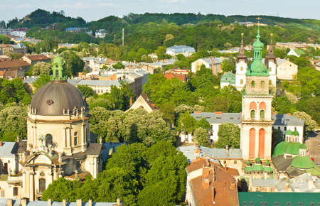 assumption: Dominican and Assumption cathedrals in Lvov (Lviv) in Ukraine.