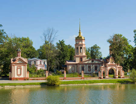 exaltation: Moscow, church of Exaltation of Cross in mansion Altufyevo. Stock Photo