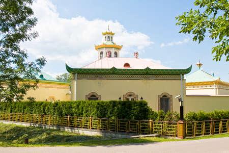selo: Chinese palace in residence of kings in Tsarskoye selo in town Pushkin in surroundings of St. Petersburg in Russia.