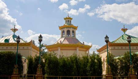 selo: Tsarskoye selo, Russia - July 07, 2012: Chinese palace in residence of kings Tsarskoye selo in town Pushkin in surroundings of St. Petersburg in Russia.