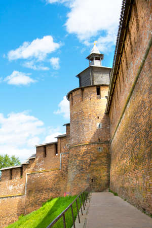nizhny novgorod: Tower of Nizhny Novgorod Kremlin fortress in town Nizhny Novgorod Russia. Editorial
