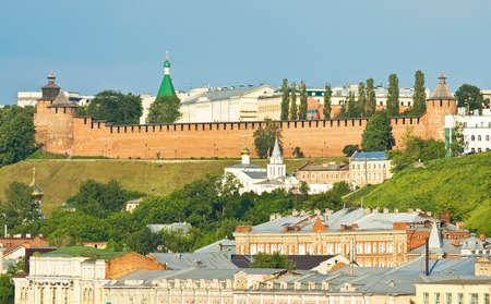 nizhni novgorod: Panoramic view of middle ages Kremlin fortress of town Nizhni Novgorod in Russia