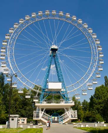 big wheel: MOSCOW - 2014: big wheel in park Izmaylovsky, the biggest park of Europe.