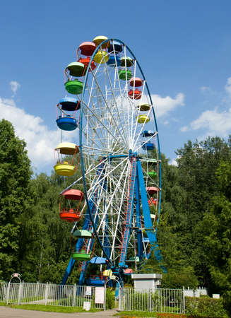 big wheel: MOSCOW -July 01, 2014: big wheel in park Izmaylovsky, the biggest park of Europe.