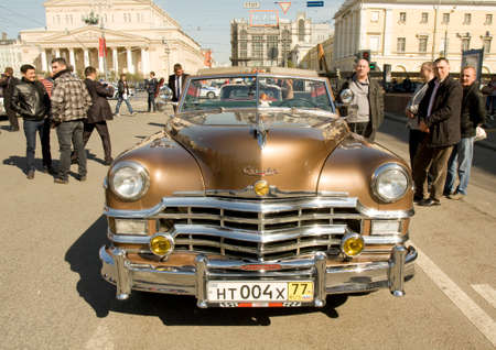 chrysler: MOSCOW - APRIL 27, 2014: retro car chrysler on rally of classical cars, organized by Russian Club of Classical Autocars on Theatre square.