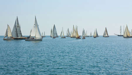 regatta: VARNA, BULGARIA -  AUGUST 14, 2015: sailing regatta devoted to birthday of city Varna.