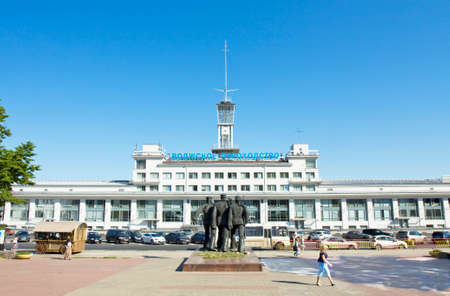 nizhni novgorod: NIZHNI NOVGOROD - JUNE 03: River port on Volga on June 03, 2013 in Nizhni Novgorod, Russia, built in 1967. Editorial