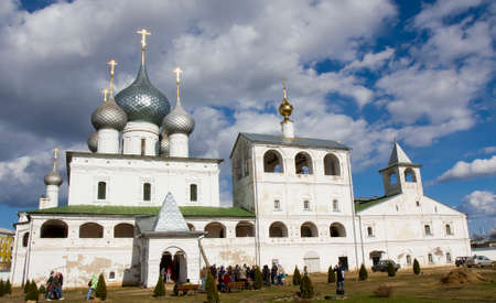 uglich russia: UGLICH, RUSSIA - MAY 01: Orthodox Resurrection monastery, May 01, 2013 in Uglich, Russia, built in 13 century.