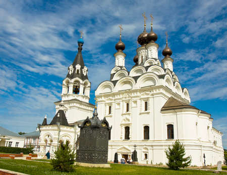 exists: MUROM, RUSSIA - JUNE 16: Annunciation cathedral of Annunciation orthodox monastery on June 16, 2013 in Murom, Russia, monastery exists from 1553, cathedral has been built in 1889. Editorial