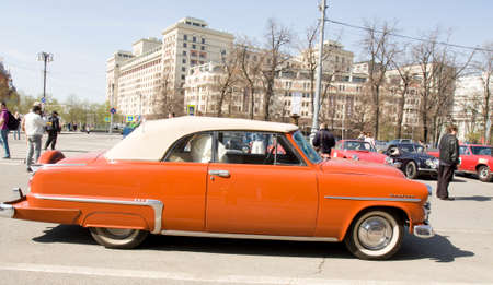 dodge: MOSCOW - APRIL 27, 2014: retro car dodge on rally of classical cars, organized by Russian Club of Classical Autocars on Theatre square. Editorial