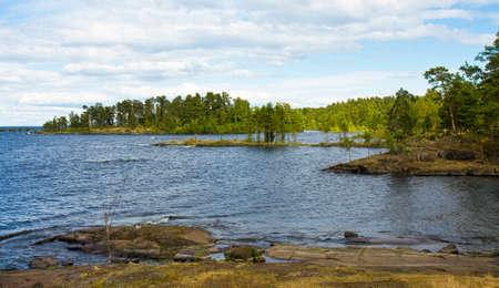 ladoga: Landscape of island Valaam on Ladoga lake, North of Russia.
