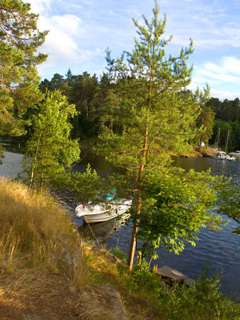 recorded: Landscape, recorded on island Valaam on Ladoga lake, on North of Russia. Stock Photo