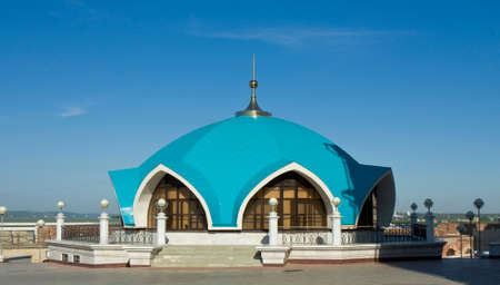 Office of fire-station - part of complex of Qol Sharif mosque in town fortress Kremlin in Kazan, capital of republic Tatarstan in Russia. Kremlin in Kazan has been designated by UNESCO as World Heritage Site.