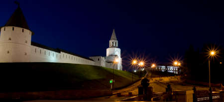 Town fortress Kremlin at night in Kazan, capital of republic Tatarstan in Russia, ihas been designated by UNESCO as World Heritage Site