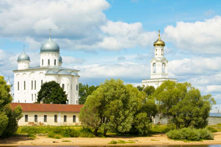 novgorod: Saint George monastery in town Great Novgorod, Russia.