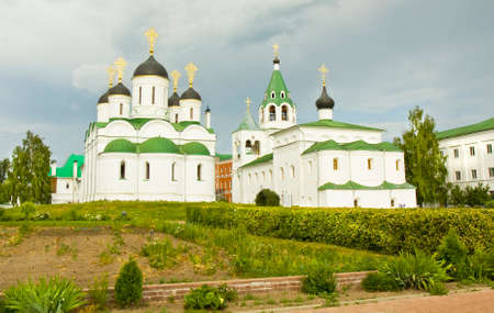 transfiguration: Cathedral of Transfiguration of Jesus Christ and Intercession cathedral of Transfiguration of Jesus Christ monastery in town Murom, Russia.