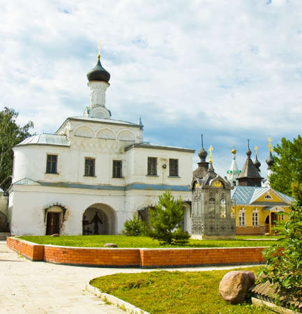 annunciation: Entrance church of Saint Stephan in Annunciation orthodox monastery in town Murom, Russia.