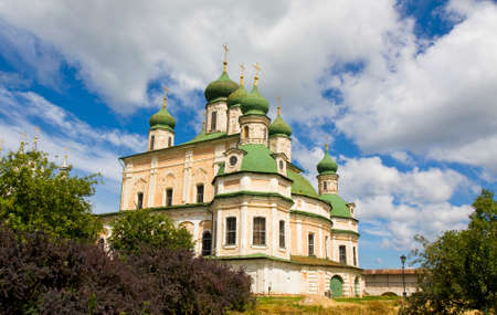 assumption: Assumption cathedral of Assumption Goritskiy monastery in town Pereslavl-Zalesskiy, Russia. Stock Photo