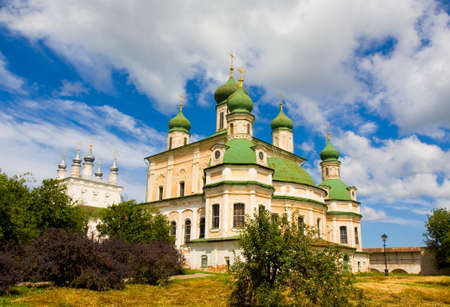 assumption: Cathedral of All Saints and Assumption cathedral of Assumption Goritskiy monastery in town Pereslavl-Zalesskiy, Russia.