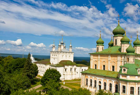 assumption: Cathedral of All Saint and Assumption cathedral of Assumption Goritskiy monastery in town Pereslavl-Zalesskiy, Russia.