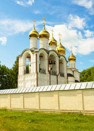 'saint nicholas': Saint Nicholas orthodox monastery in town Pereslavl - Zalesskiy, Russia. Stock Photo