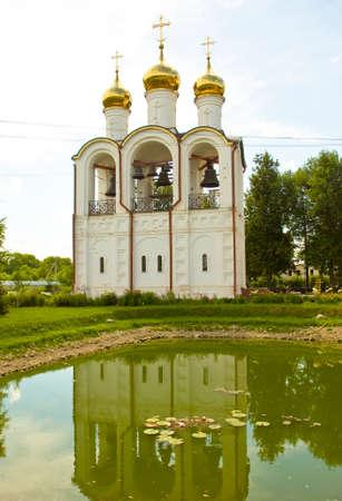'saint nicholas': Bell tower in Saint Nicholas convent in town Pereslavl - Zalesskiy, Russia.