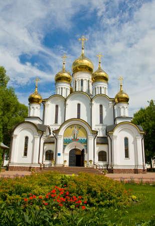 'saint nicholas': Saint Nicholas cathedral in Saint Nicholas orthodox convent inn town Pereslavl - Zalesskiy, Russia.