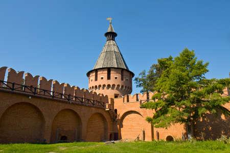 spasskaya: Spasskaya tower of fortress Kremlin in town Tula, Russia.