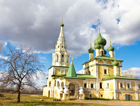 uglich russia: Orthodox church of nativity of John the Baptist in town Uglich, Russia.