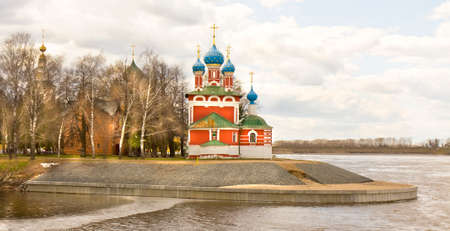 uglich russia: Orthodox church of prince Dmitry on blood in town Uglich, Russia